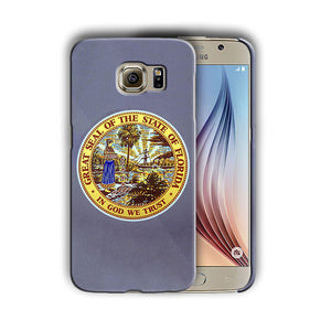 Florida Great Seal Emblem Galaxy S4 S5 S6 S7 Edge Note 3 4 5 Plus Case 03