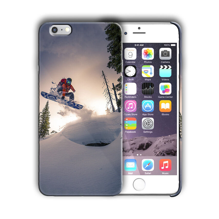 Extreme Sports Snowboarding Iphone 4 4s 5 5s 5c SE 6 6s 7 + Plus Case Cover 05