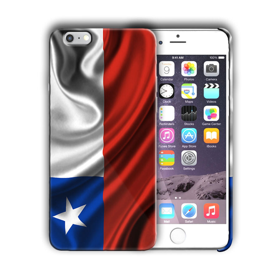 Texas State Flag Iphone 4 4s 5 5s 5c SE 6s 7 8 X XS Max XR 11 Pro Plus Case 01