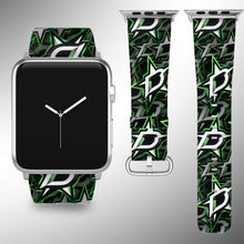 Load image into Gallery viewer, Dallas Stars Apple Watch Band 38 40 42 44 mm Fabric Leather Strap 01