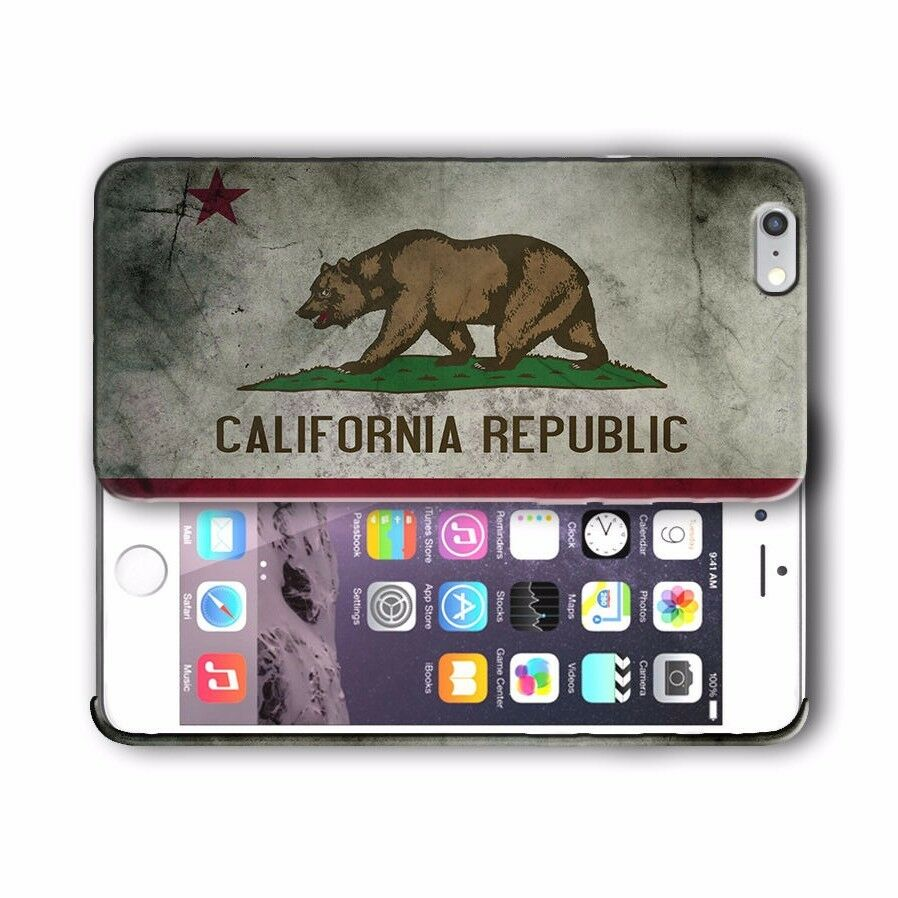 California State Symbols Flag Iphone 4s 5s 5c SE 6s 7 8 X XR 11 Pro Plus Case 3