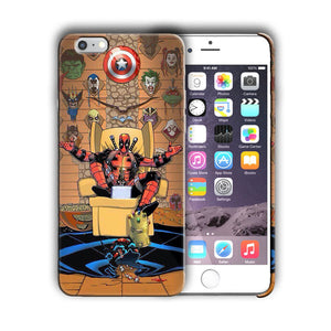 Super Hero Deadpool Iphone 4 4s 5 5s 5c SE 6 6s 7 8 X XS Max XR Plus Case n4