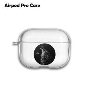 Animal Wildlife Wolf Silicone Case for AirPods 1 2 3 Pro gel clear cover SN 137