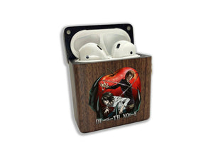 Anime Death Note wooden Case for AirPods 1 2 3 Pro real wood cover SN 183