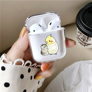 Cute Animals Best Silicone Case for AirPods 1 2 3 Pro gel clear cover SN 168