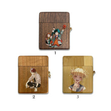 Load image into Gallery viewer, Boku no Hero Academia wooden Case for AirPods 1 2 3 Pro real wood cover SN 163