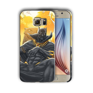Black Panther Samsung Galaxy S4 5 6 7 8 9 10 E Edge Note 3 - 10 Plus Case n7