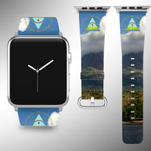 Load image into Gallery viewer, Nicaragua Coat of Arms Apple Watch Band 38 40 42 44 mm Series 1 - 5 Wrist Strap