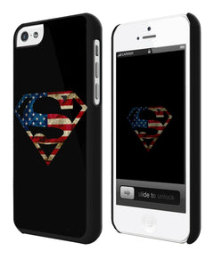 Iphone 4s 5s 5c 6 6S 7 8 X XS Max XR Plus Case Cover Superman Logo Flag USA ip1