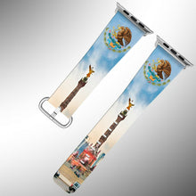 Load image into Gallery viewer, Mexico Coat of Arms Apple Watch Band 38 40 42 44 mm Fabric Leather Strap