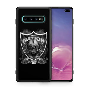 Oakland Raiders protective TPU case for Galaxy S10 E S9 plus S8 S7 S6 S5 note 5