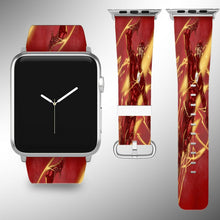 Load image into Gallery viewer, Flash Apple Watch Band 38 40 42 44 mm Series 5 1 2 3 4 Fabric Leather Strap 02