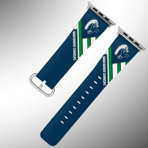 Vancouver Canucks Apple Watch Band 38 40 42 44 mm Fabric Leather Strap 01