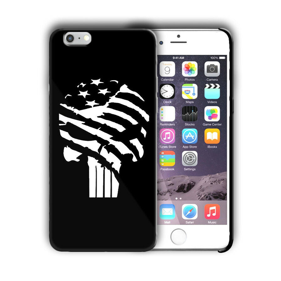 Super Hero Punisher Iphone 4s 5 5s SE 6 6s 7 8 X XS Max XR 11 Pro Plus Case n13