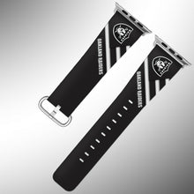 Load image into Gallery viewer, Oakland Raiders Apple Watch Band 38 40 42 44 mm Series 5 1 2 3 4 Wrist Strap 04