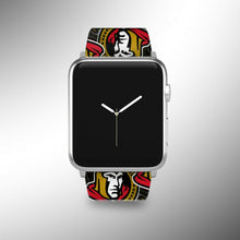 Load image into Gallery viewer, Ottawa Senators Apple Watch Band 38 40 42 44 mm Fabric Leather Strap 01