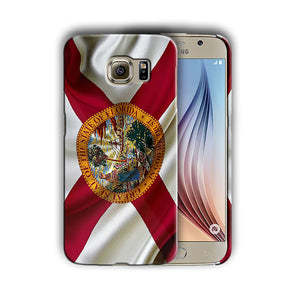 Florida Symbols Flag Samsung Galaxy S4 5 6 7 8 9 10 E Edge Note 3 Plus Case 01