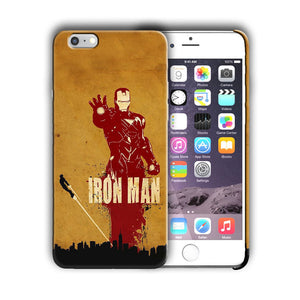 Super Hero Iron Man Iphone 4 4s 5 5s SE 6 6s 7 8 X XS Max XR 11 Pro Plus Case n7