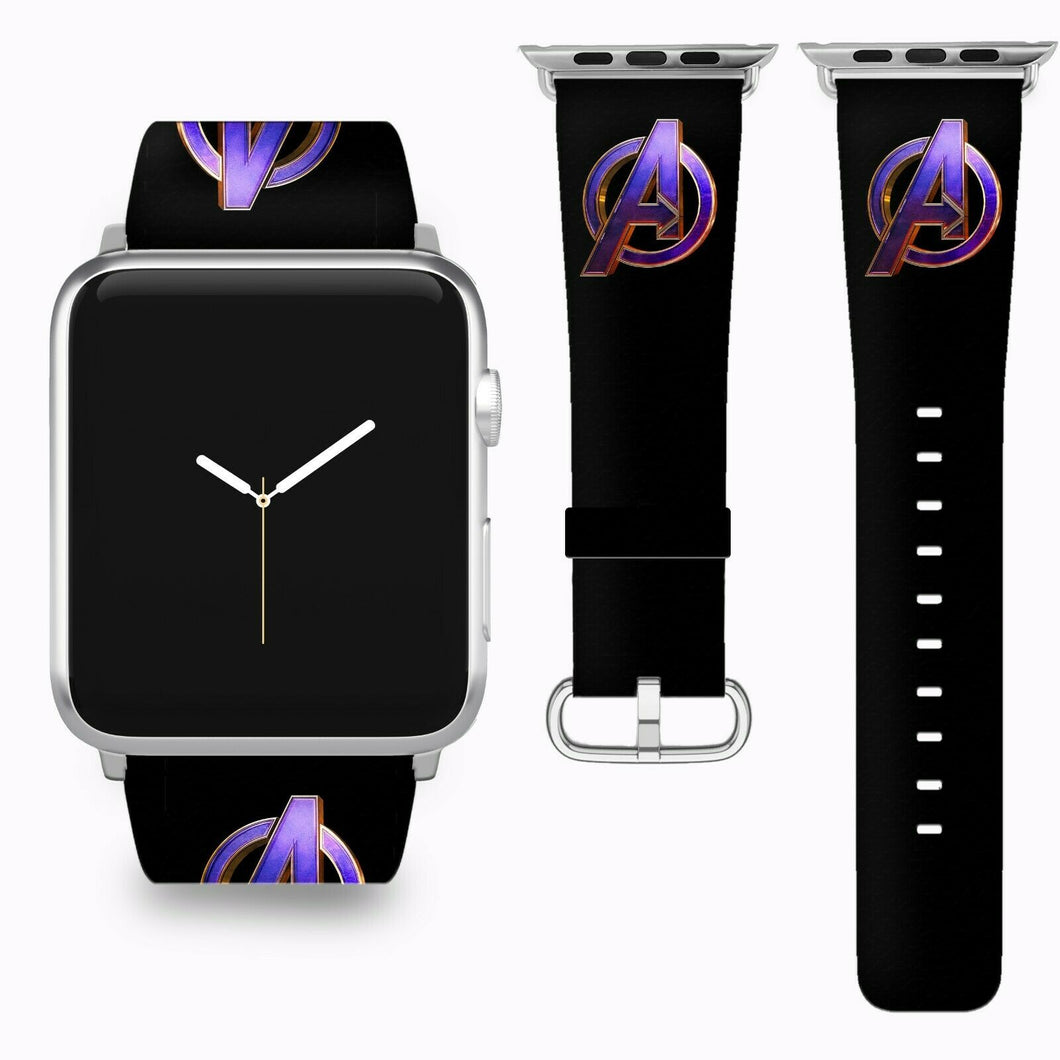 Avengers Endgame Apple Watch Band 38 40 42 44 mm Fabric Leather Strap 01