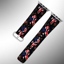 Load image into Gallery viewer, Punisher Apple Watch Band 38 40 42 44 mm Fabric Leather Strap 01