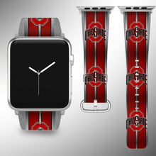 Load image into Gallery viewer, Ohio State Buckeyes Apple Watch Band 38 40 42 44 mm Series 1 - 5 Wrist Strap 1