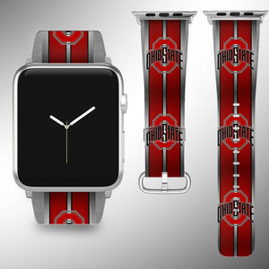 Ohio State Buckeyes Apple Watch Band 38 40 42 44 mm Series 1 - 5 Wrist Strap 1
