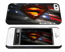 Load image into Gallery viewer, Iphone 4s 5s 5c SE 6 6S 7 8 X XS Max XR Plus Case Cover Superman Logo Flag USA
