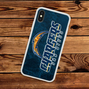 Rubber bumper case San Diego Chargers for iphone X XS Max XR 8 7 6 5 plus cover