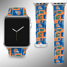 Load image into Gallery viewer, Florida Gators Apple Watch Band 38 40 42 44 mm Fabric Leather Strap 5