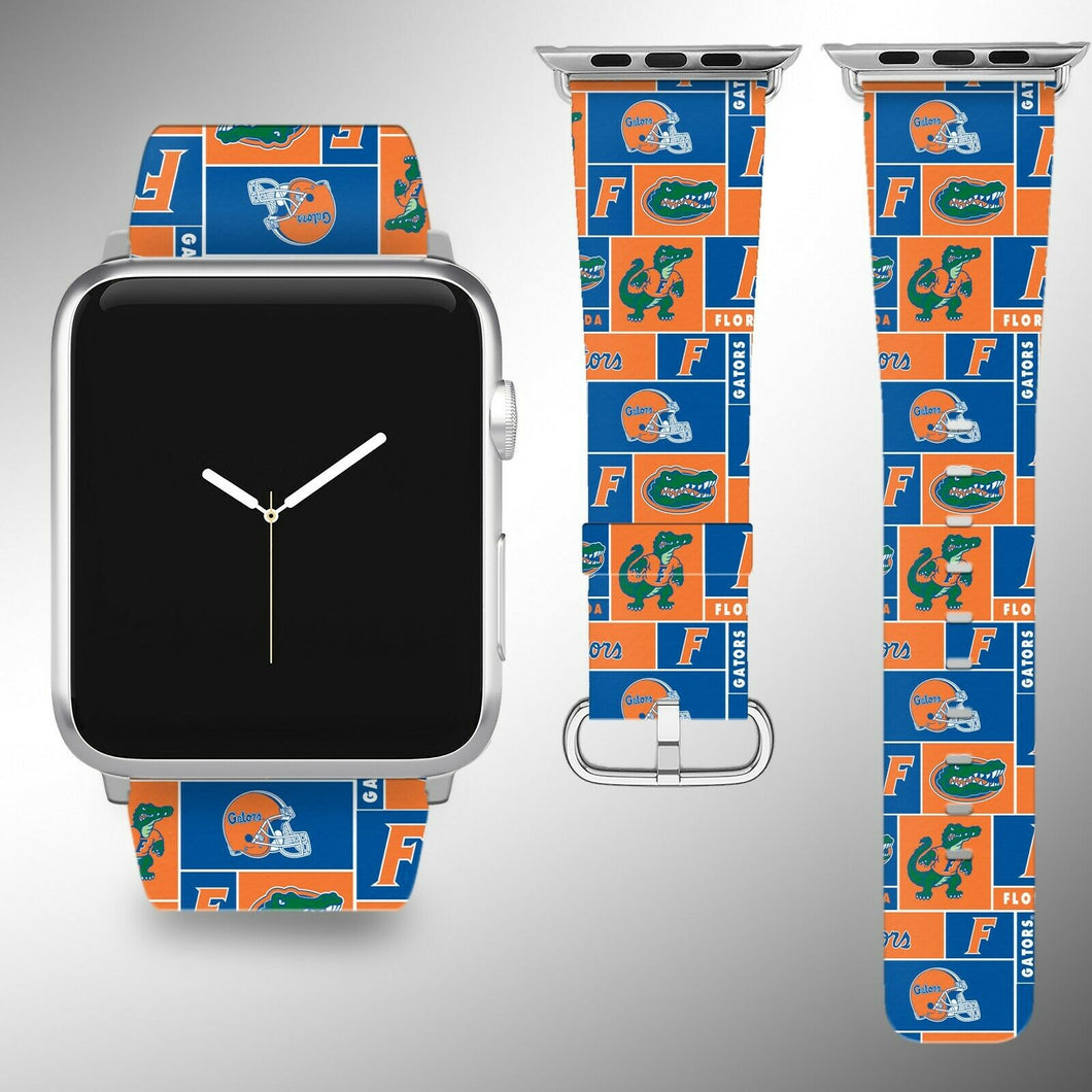Florida Gators Apple Watch Band 38 40 42 44 mm Fabric Leather Strap 5