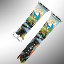 Load image into Gallery viewer, Alice in Wonderland Apple Watch Band 38 40 42 44 mm Series 5 1 2 3 4 Wrist Strap