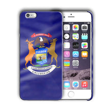 Load image into Gallery viewer, Michigan Great Seal Emblem Iphone 4 4s 5 5s 5c SE 6 6s 7 + Plus Case Cover 04