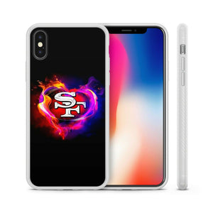 Rubber bumper case San Francisco 49ers for iphone X XS Max XR 5 6 7 8 plus cover
