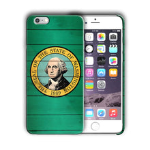 Load image into Gallery viewer, Washington State Symbols Flag Iphone 4 4s 5 5s 5c SE 6 6s 7 + Plus Case Cover 02