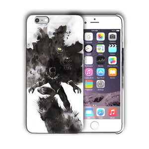 Super Hero Black Panther Iphone 4 4s 5 5s 5c SE 6s 7 8 X XS Max XR Plus Case n4