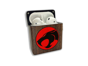 ThunderCats wooden Case for AirPods 1 2 3 Pro real wood cover SN 252