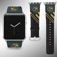 Load image into Gallery viewer, Vegas Golden Knights Apple Watch Band 38 40 42 44 mm Fabric Leather Strap 02