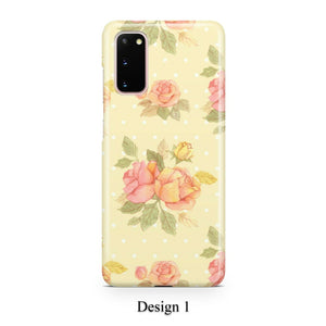 Pastel roses case for Galaxy s20 s20+ Ultra s10 s10+ s9 s8 s7 S6 Edge SN