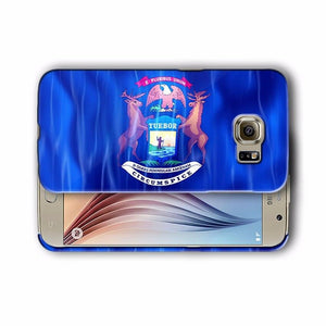 Michigan Symbols Flag Samsung Galaxy S4 S5 S6 S7 Edge Note 3 4 5 Plus Case 01