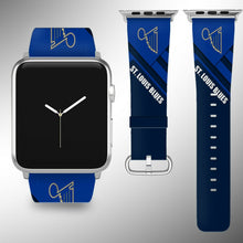Load image into Gallery viewer, St. Louis Blues Apple Watch Band 38 40 42 44 mm Fabric Leather Strap 01