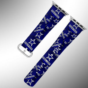 Dallas Cowboys Apple Watch Band 38 40 42 44 mm Fabric Leather Strap 1