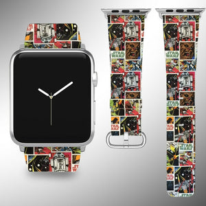 Star Wars Apple Watch Band 38 40 42 44 mm Fabric Leather Strap 5