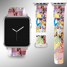 Load image into Gallery viewer, Disney Princess Apple Watch Band 38 40 42 44 mm Series 5 1 2 3 4 Wrist Strap 01