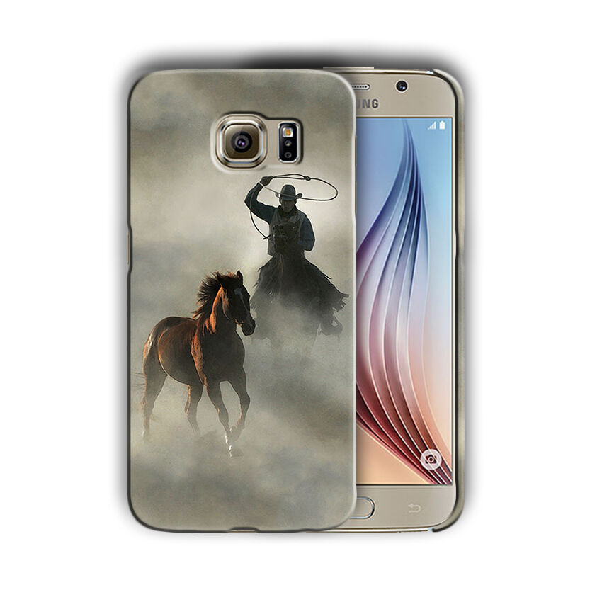 Rodeo Cowboy Lasso Horse Samsung Galaxy S4 5 6 7 8 9 10 E Edge Note 3 Plus Case