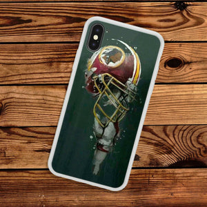 Rubber bumper case Washington Redskins for iphone 5 6 7 8 plus X XS Max XR cover