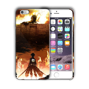 Attack on Titan Eren Yeager Iphone 4s 5s 5c SE 6 6s 7 8 X XS Max XR Plus Case 06