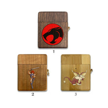Load image into Gallery viewer, ThunderCats wooden Case for AirPods 1 2 3 Pro real wood cover SN 252