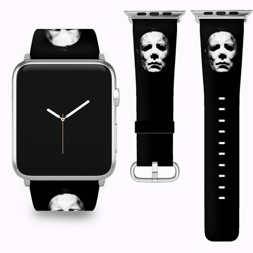 Halloween Michael Myers Apple Watch Band 38 40 42 44 mm Series 1-5 Wrist Strap