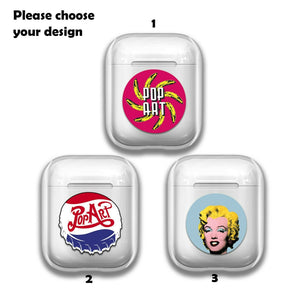 Pop Art Andy Warhol Silicone Case for AirPods 1 2 3 Pro gel clear cover SN 130