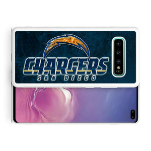 Rubber bumper case San Diego Chargers for Galaxy S10 E S9 plus S8 S7 note S6 S5